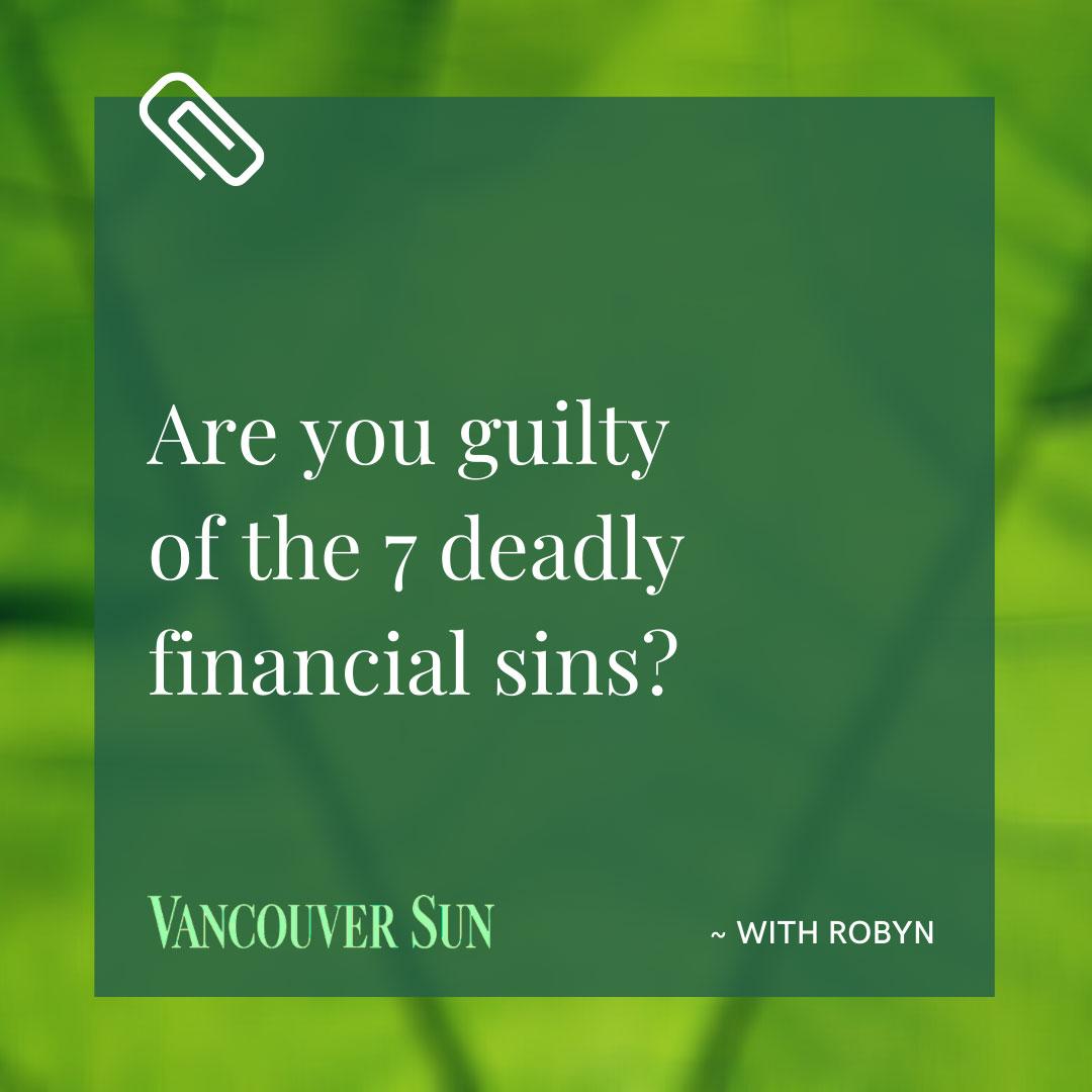 Vancouver Sun - 7 deadly sins